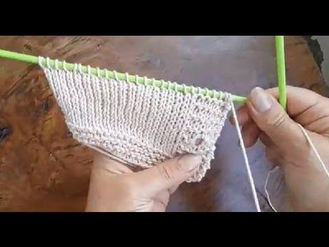 Örgüde ilik nasıl açılır - Örgü Dersleri - YouTube