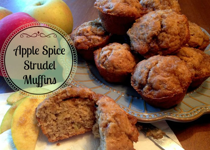 So delicious and moist! Apple Spice Strudel Muffins
