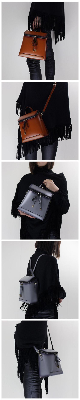 Genuine Leather backpack shoulder bag messenger bag for women leather bag 14065
