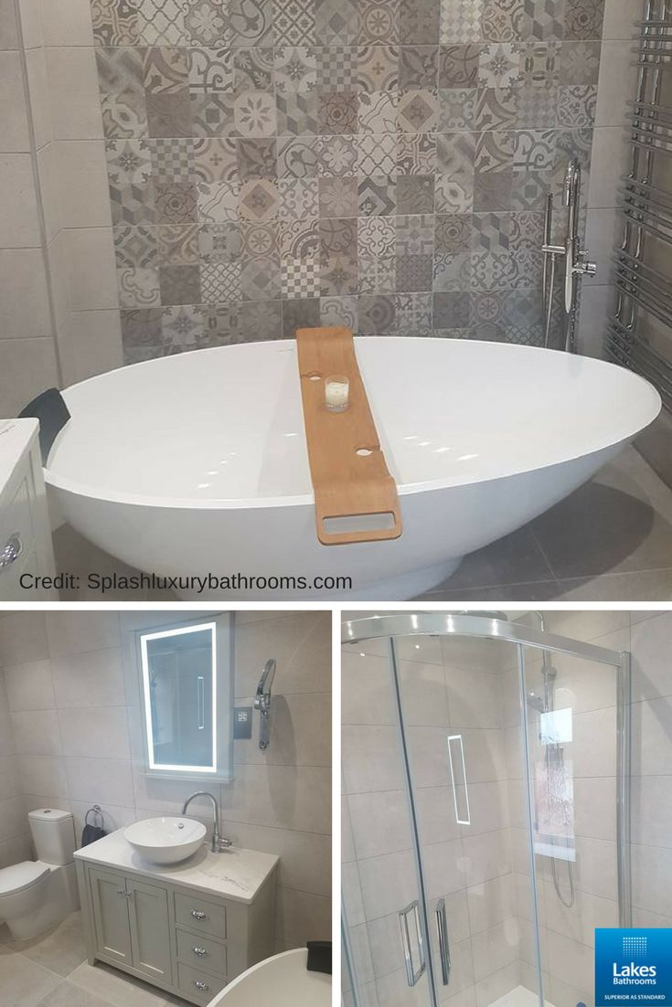 This new bathroom was designed and supplied by Splash Kitchens and Bathrooms for a new build property. It features our Coastline Offset Quadrant shower enclosure which is the perfect blend of functionality and the beauty of seamless curves to make the most of aesthetics and available space. #bathroominspiration #reallakesbathroom #bathrooms