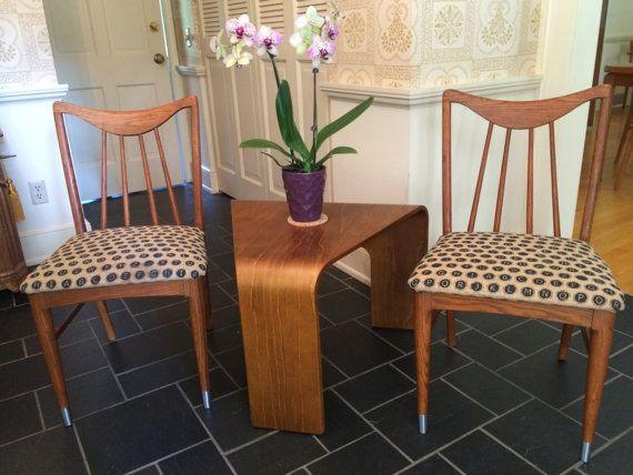 SoldA Pair Of Keller Brand Teak Dining Chairs By ModernaireMCMStudios