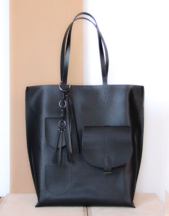 Saddle Zip leather bag by Kulikstyle
