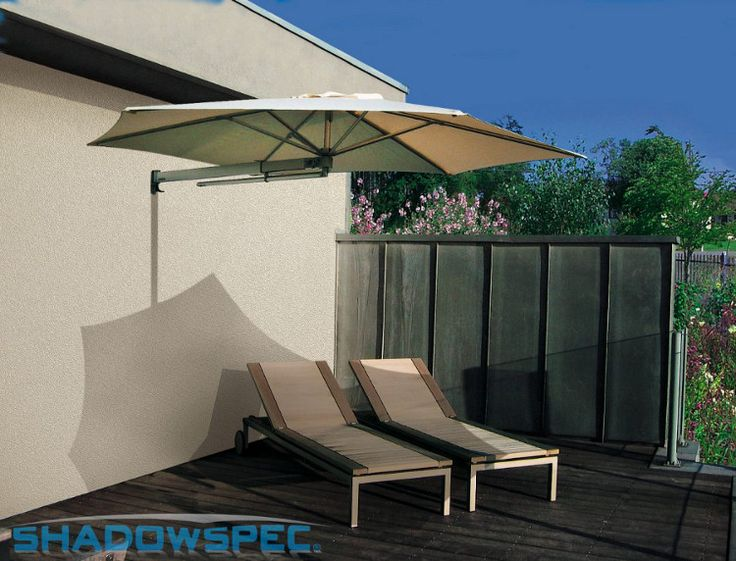 SHADOWSPEC – Global Suppliers of  Luxury Outdoor Umbrella Systems  Use this premium sun umbrella outdoors all year round at your Cafe and Restaurant. An SU3 wall mounted shade umbrella is the perfect alternative to awnings or sails.   Click below for more information: USA – www.shadowspec.com  AUST – www.shadowspec.com.au  NZ/Other – www.shadowspec.co.nz