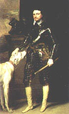 Van Dyck, Thomas Wentworth, 1st Earl of Strafford, with his dog. c.1633    Causes of the conflict of the English Civil War