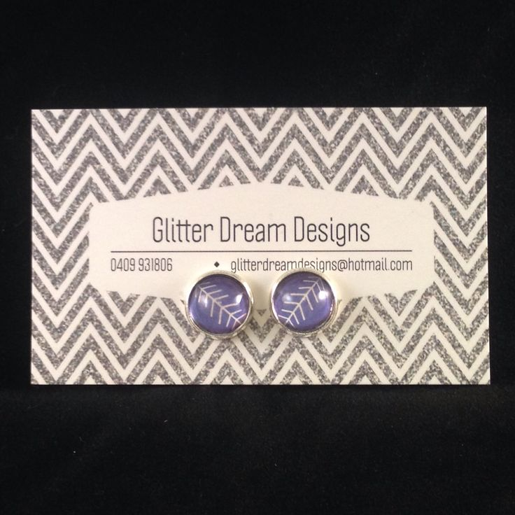 Order Code B15 Blue Cabochon Earrings