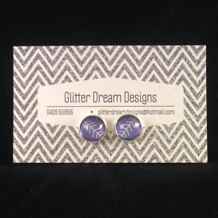 Order Code B15 Blue Cabochon Earrings