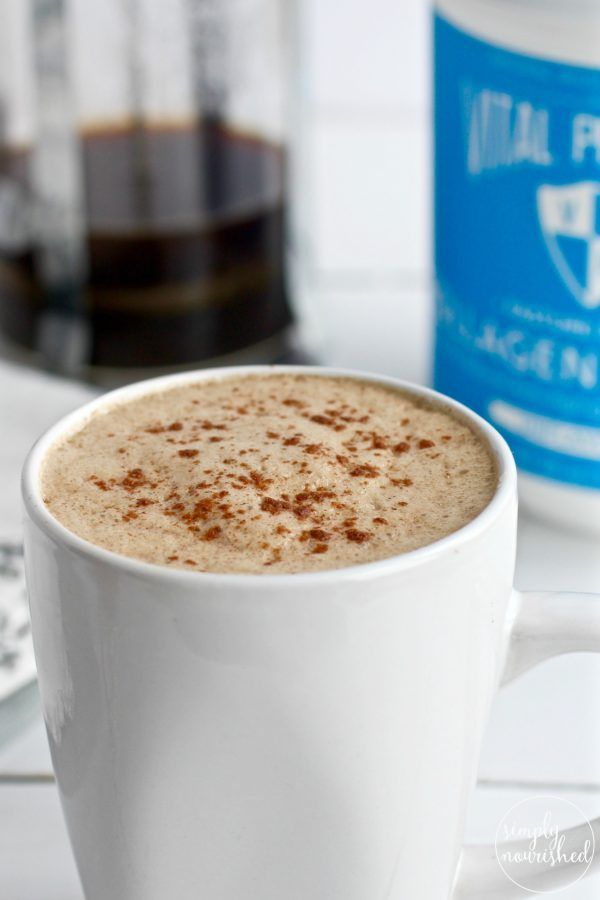 Gut-healing Cinnamon Coconut Latte- sub dandelion tea for coffee