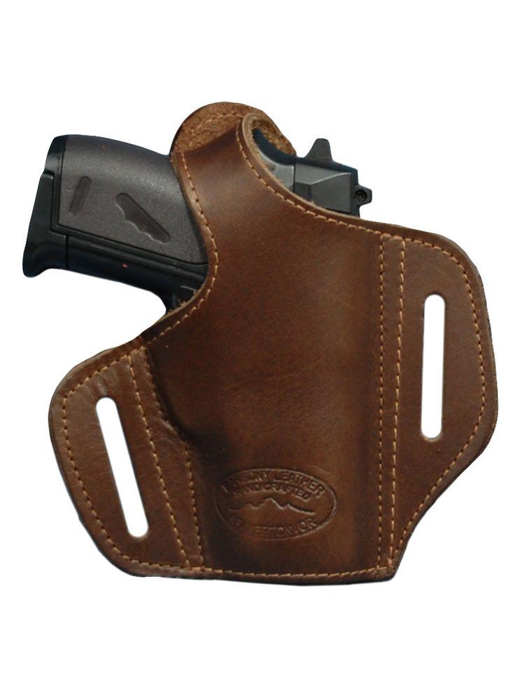 New Black Leather Pancake Gun Holster for Mini/Pocket 22 25 32 380 ...