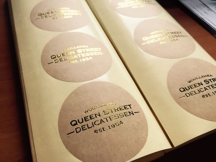 Craft paper labels for Queen St Deli in Woollahra Sydney.