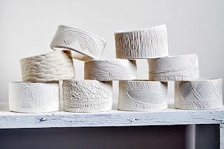 porcelain bangles by Katherine Wheeler