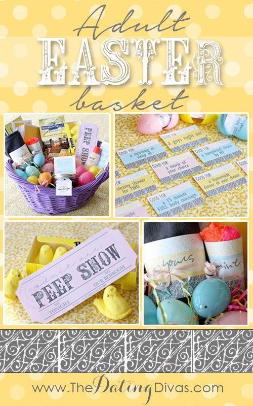 Easter basket ideas for the hubby-great ideas!
