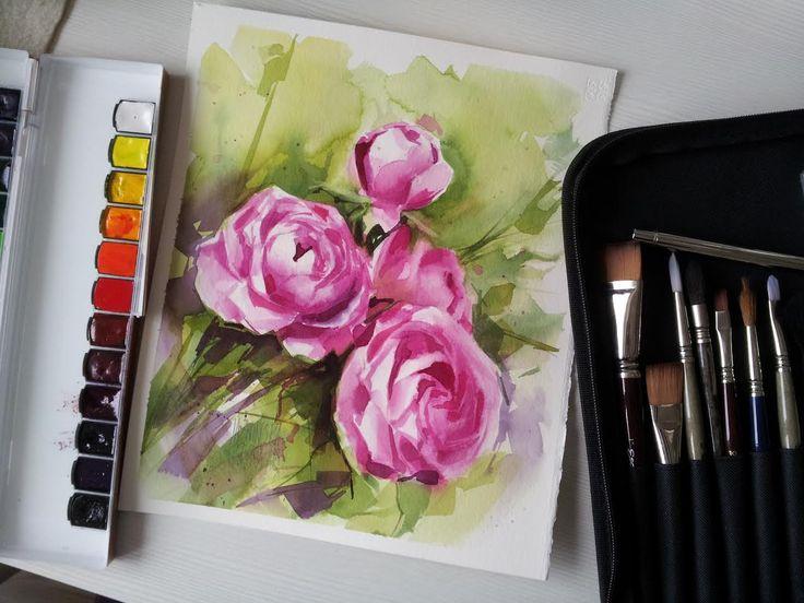 Watercolour/ Rose