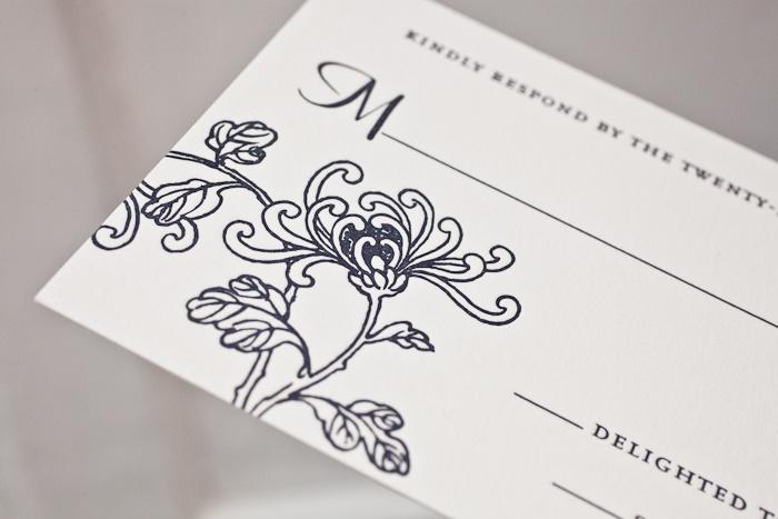 Dolce (by Amy Graham Stigler) letterpress wedding invitation