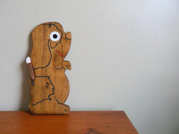 $15 - [we put this guy on sale] reduced clearance - adorable wooden puppy dog cheese tray or cutting board - entertaining - midcentury - serving