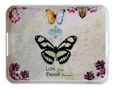 Ultraform Kaydırmaz Tepsi Kelebek Desen 33x26 Cm