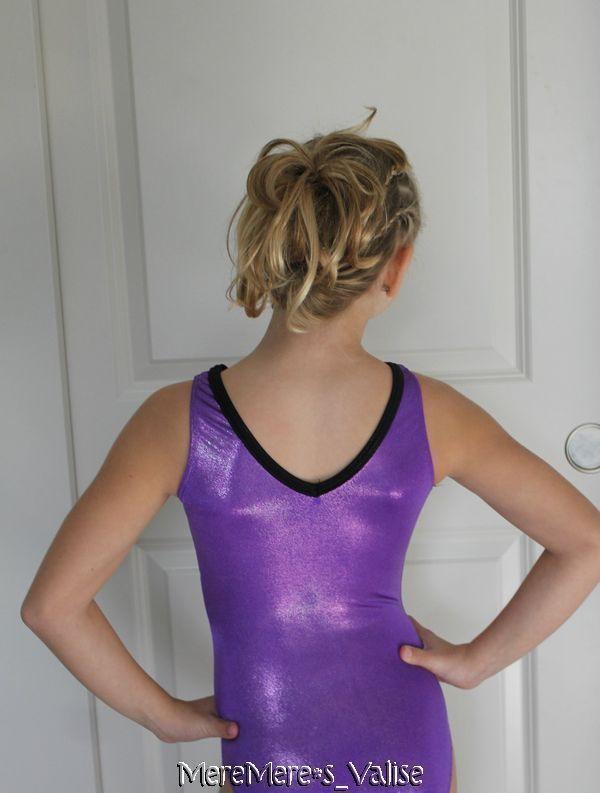 GK Elite Purple Mystique Black Flame V Neck Trim Gymnastics Leotard CL ...