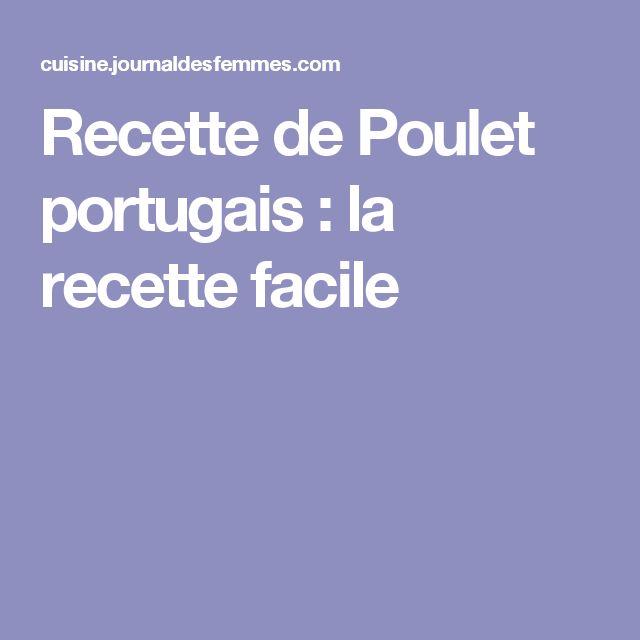 Recette de Poulet portugais : la recette facile
