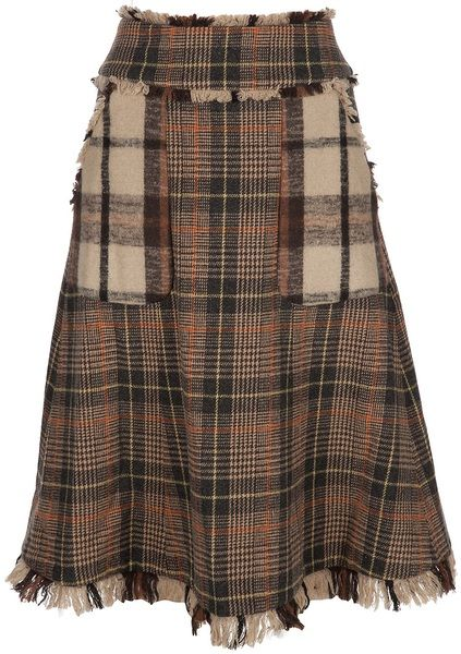 Oh yeah, I can make this... And I have the tartan plaid already!  Tory Burch Brown Tartan Skirt