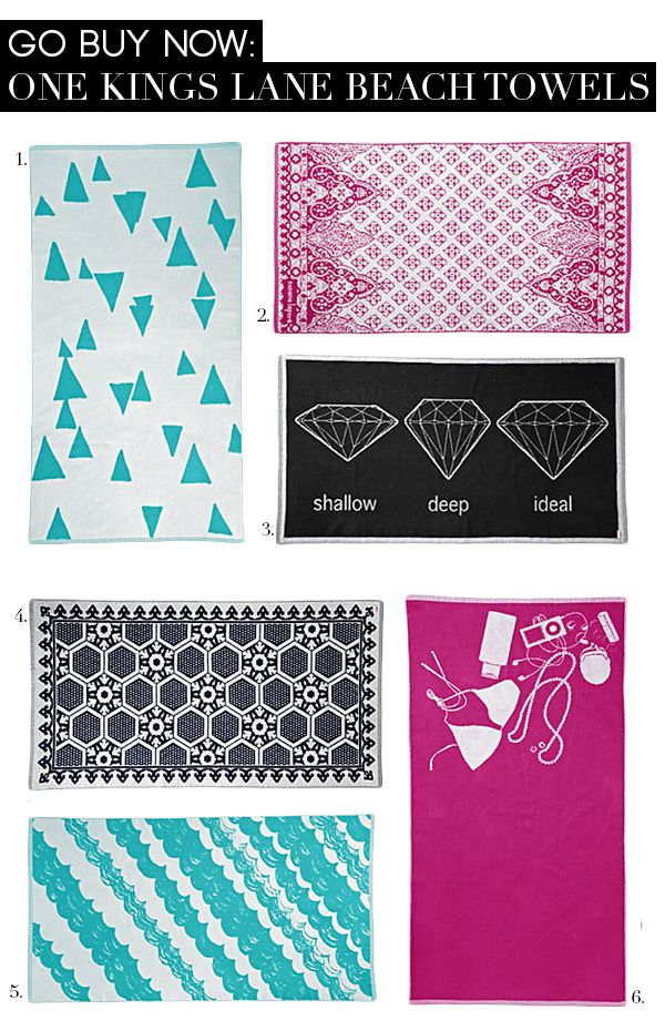 Go Buy Now: One Kings Lane Beach Towels | www.theglitterguide.com