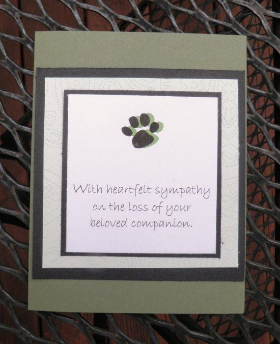 Pet Sympathy Card by TwoYellowDaisies on Etsy, $3.50