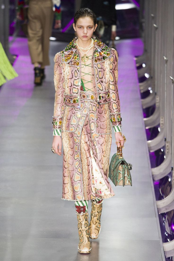 A look from the Gucci fall 2017 collection. Photo: Imaxtree