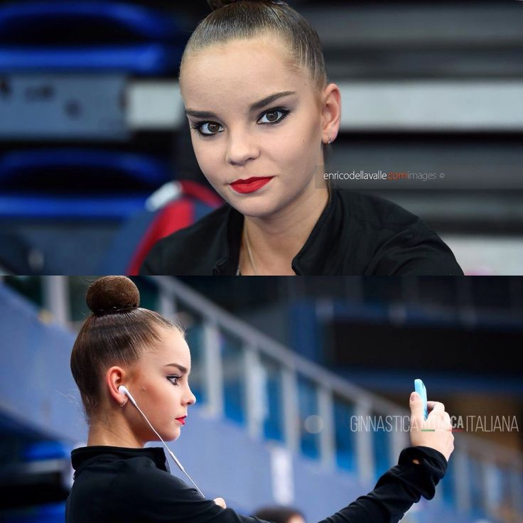 Dina AVERINA (Russia) ~ Profile picture from  Enrico Della Valle. Dina makes a selfie @ World Cup Pesaro-Italia    Gimnastica Italiana