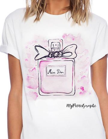 Miss Dior - Watercolor Series - Tshirt: buy it here: http://www.zazzle.com/watercolor_perfume_tshirts-235501103939800029  #dior #miss #missdior #tshirt #design #zazzle