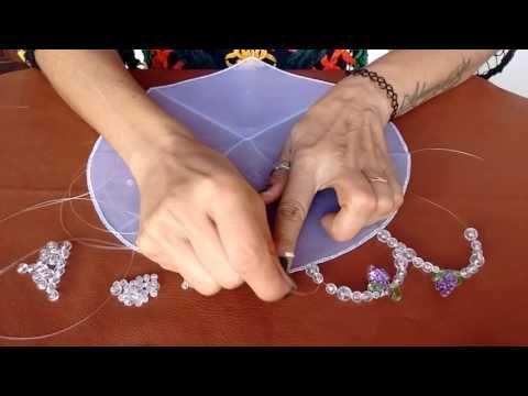 Fazendo cobre jarra modelo 2 de tule e pedraria. - YouTube