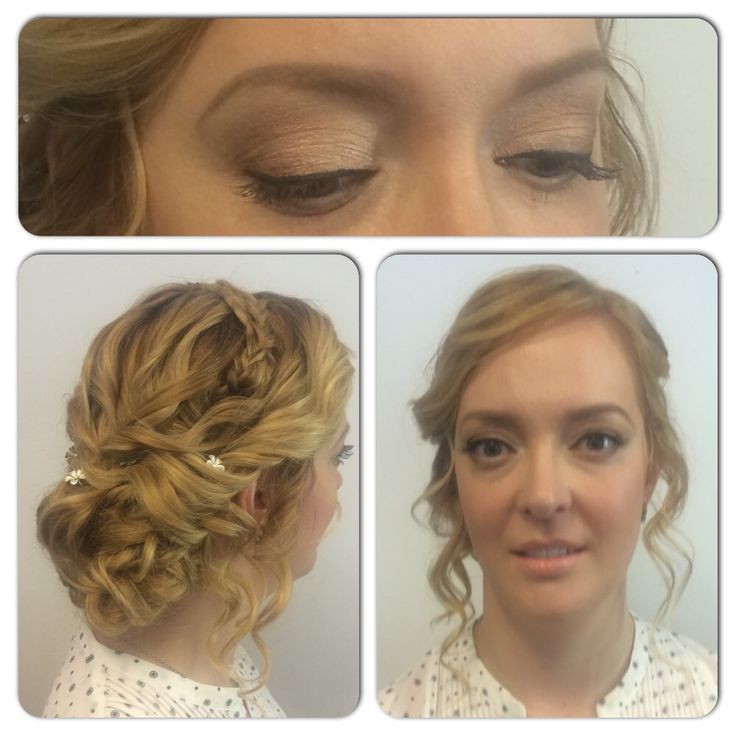 Bridal hair and makeup by Märta Lindroos.