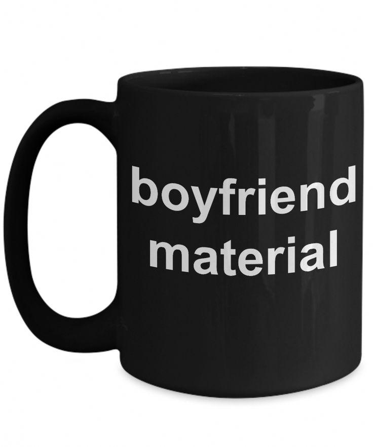 Coffee Mug For Boyfriend – Best Valentines Day Gifts Ideas – Present For Boys – 15 Oz Black Cup – Boyfriend Material