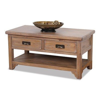 Windswept Two Drawer Coffee Table In Distressed Blanched Oak By Leick  Furniture. Save 22 Off