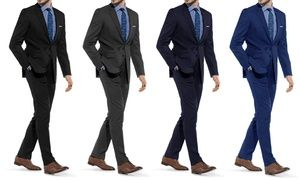 Groupon - Braveman Men's Slim-Fit Suit (2-Piece). Groupon deal price: $49.99