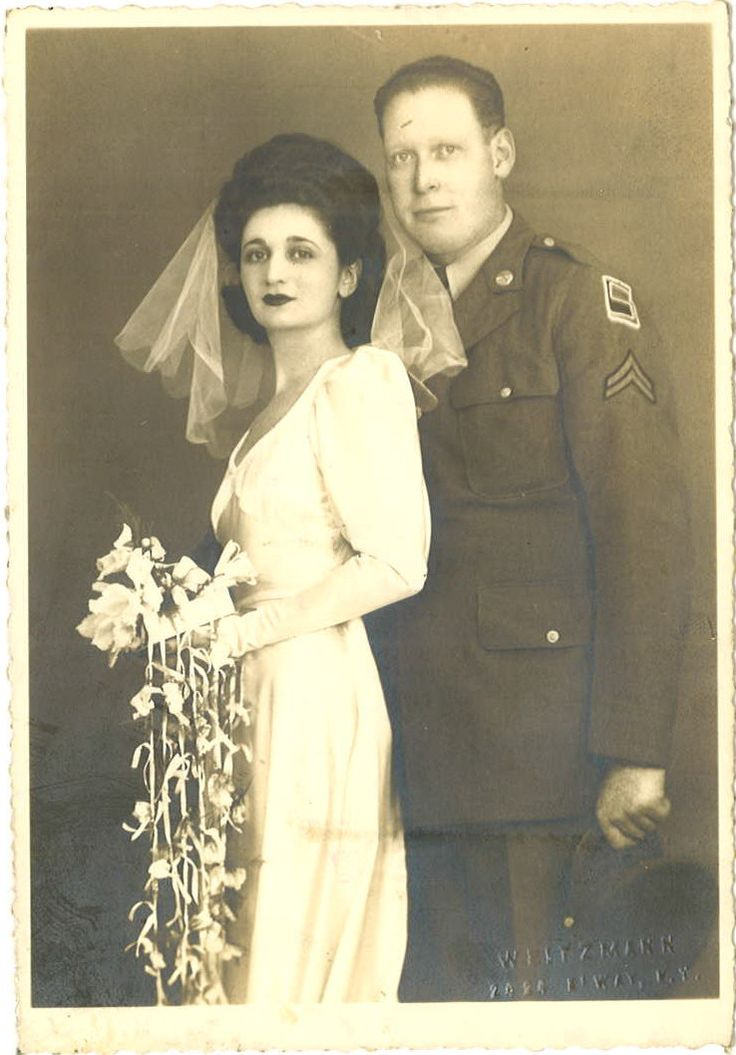 Vintage bride and groom.