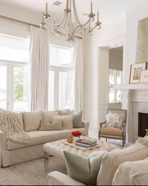 Casual Elegant Living Room: Soft Touches Of Green In This Elegant Sitting Room