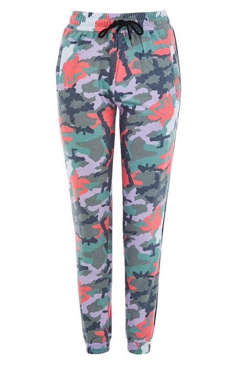 Topshop Kylie Camo Jogger Pants, US4, $58