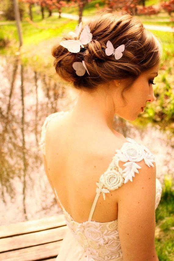 #Schmetterlinge fürs #Haar zur #Hochzeit
