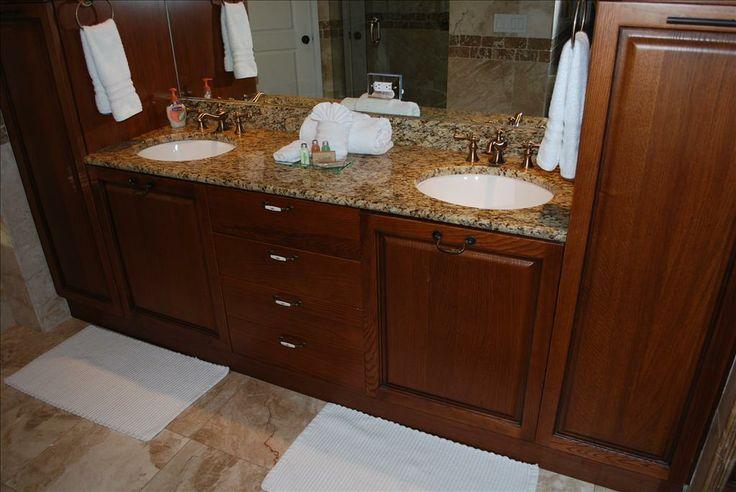 master bath vanities   Stunning Marble Master Bathroom Dual Vanity Sinks