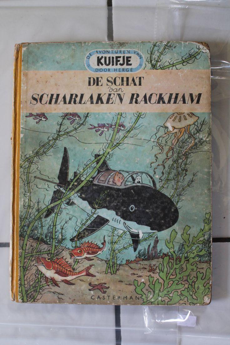 Rare collectible 1952 Tintin / Kuifje - De schat van scharlaken Rackham (Dutch…