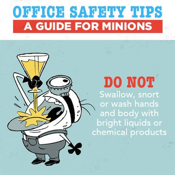 Funny Work Safety Quotes: Office Safety- DO NOT Play With Chemicals