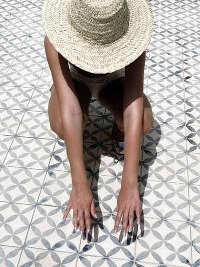 Beautiful tiles - love that the colour is washed out