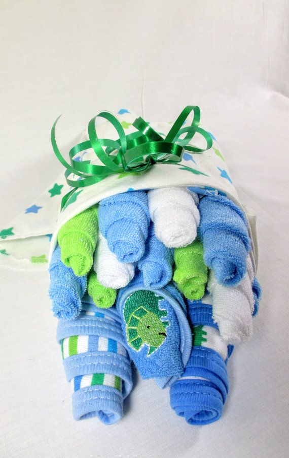 Washcloth Bouquet Burp Cloth Bouquet by JNsCreativeDesigns on Etsy