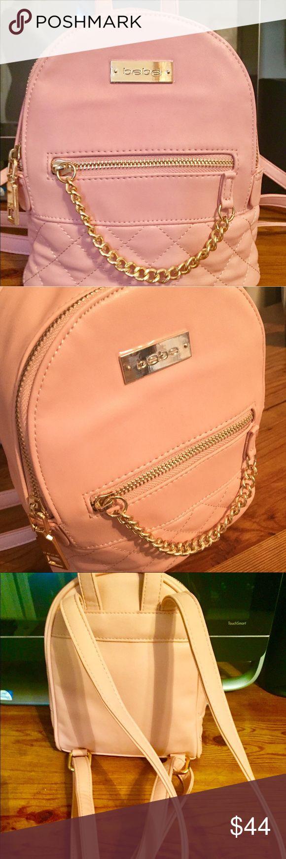 Authentic Bebe Mini Backpack Pink leather mini backpack. Brand New! NWOT bebe Bags Backpacks