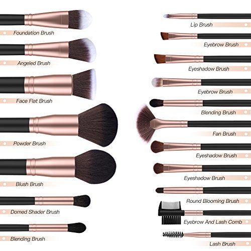 2d33e0522e3d BESTOPE Makeup Brushes 18 PCs Makeup Brush Set Premium Synthetic ...