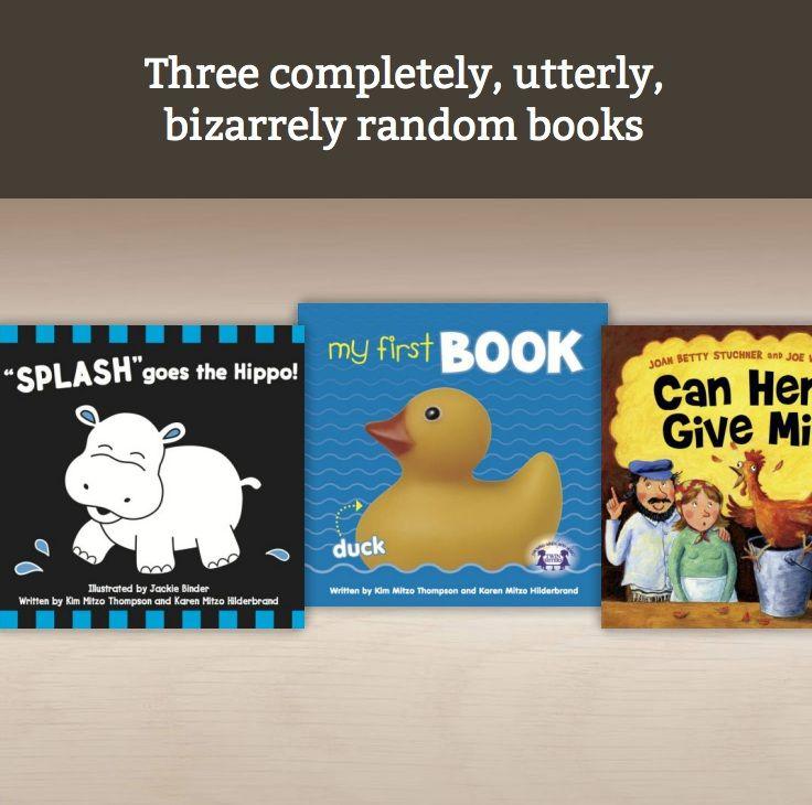 Three completely, utterly, bizarrely random books