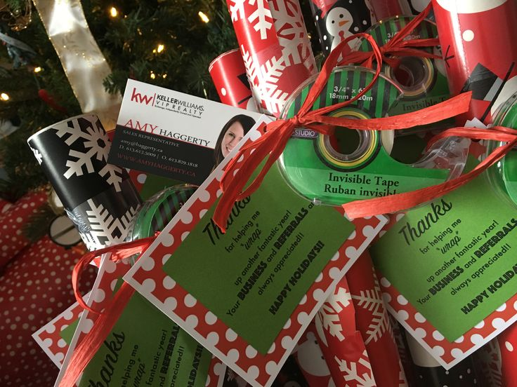 """Christmas 2016 pop-by!  """"Thanks for helping me """"wrap"""" up another fantastic year!""""   Clients and friends loved these!"""