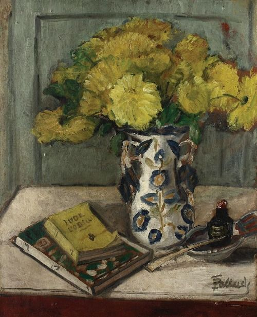 Theodor Pallady - Still life with yellow chrysanthemums