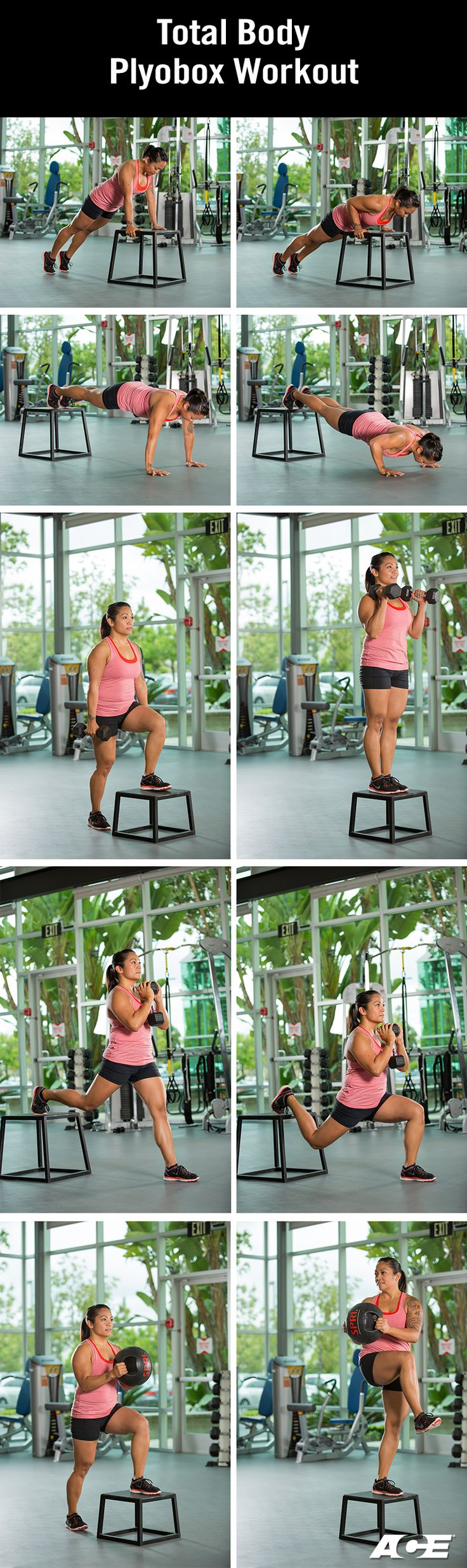 Total Body Circuit Featuring the Plyometric Box