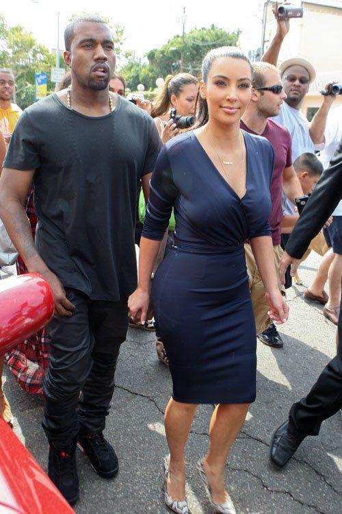 Kim Kardashian In Blue Givenchy Dress – Dash LA Opening
