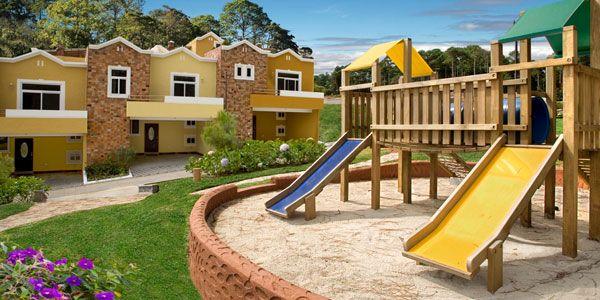 #QuintaLosEncinos tiene parques para que tus hijos  jueguen cerca de la casa