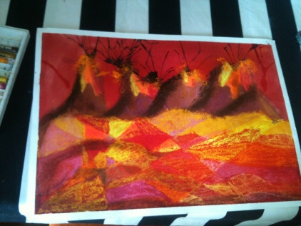 Kids art- volcanoes | Beaux Design: arts & crafts